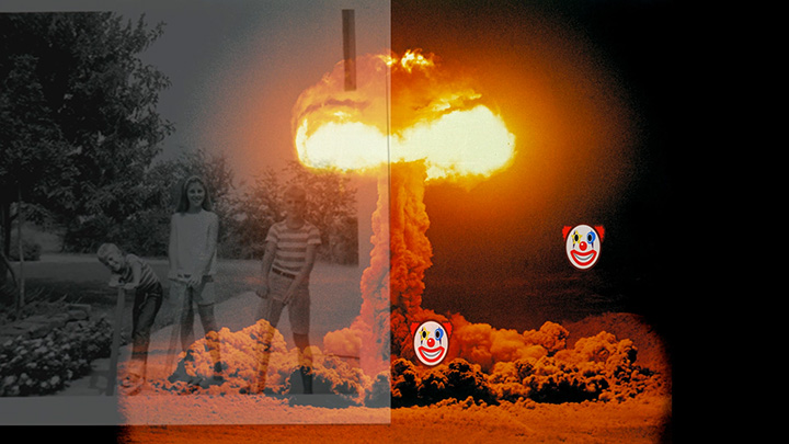 children and nuclear explosion