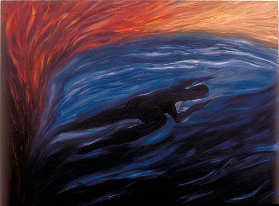 Fire and Ice, oil painting 1988 by Ty Bowman