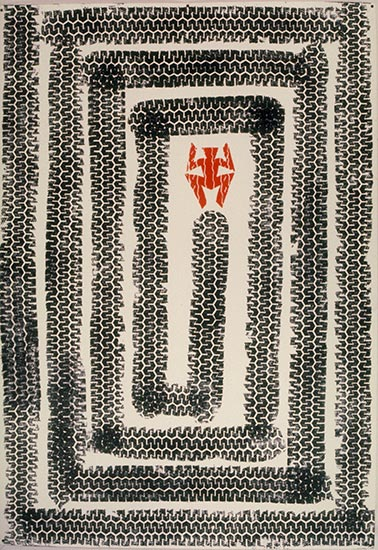 Tire Relief print 1994 by Ty Bowman
