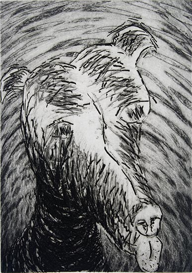 Etching from Figurings Folio 1985 by Ty Bowman