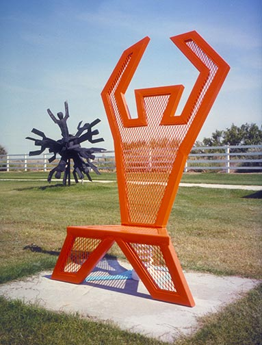 Man Chair, La Quinta Sculpture Park, California 1994 by Ty Bowman