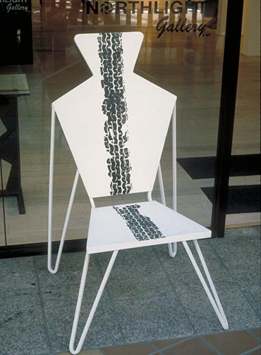 Man Chair, steel 1995 by Ty Bowman