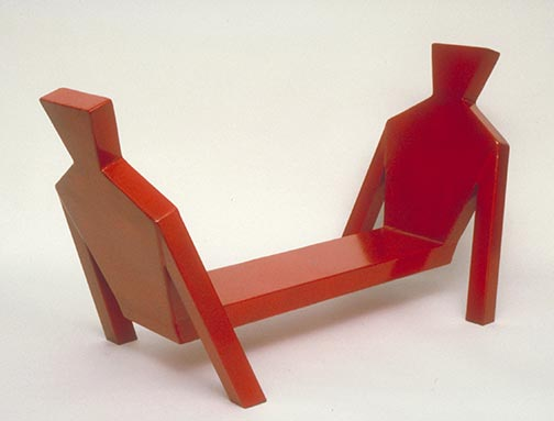 Two Men Bench (maquette), steel 1995 by Ty Bowman