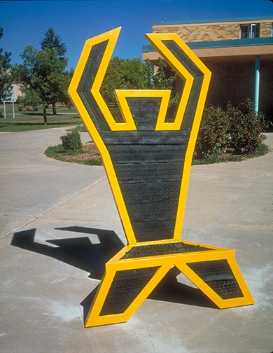 Tire Man Chair, College of Santa Fe 1992 by Ty Bowman